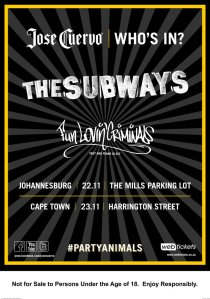 Event: Jose Cuervo | Who's in for The Subways and Fun Lovin' Criminals?